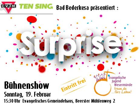 TEN SING-Show Surprise