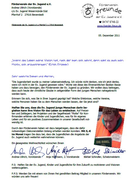Spendenbrief 2011 Freun De